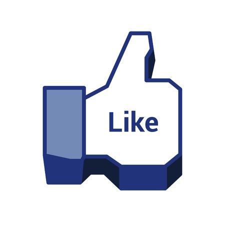Social Media Like Icon Vector. Stock Vector - 83557601