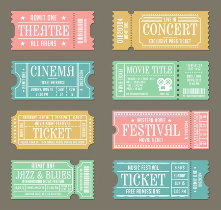 Vintage Ticket Template Set for Event