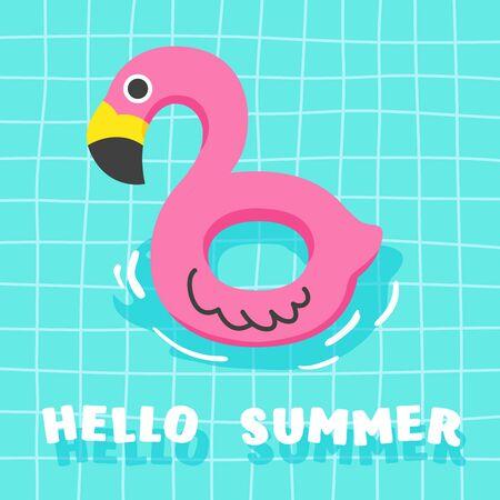Cute Summer Fancy Floats in the Pool