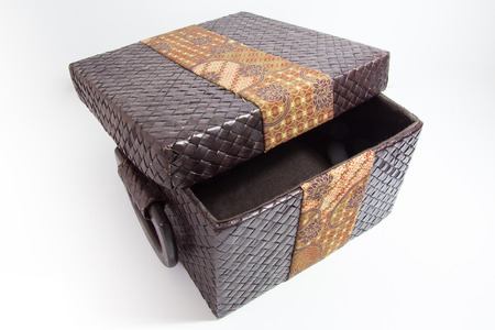 weaved: Weaved Box With Batik Decoration