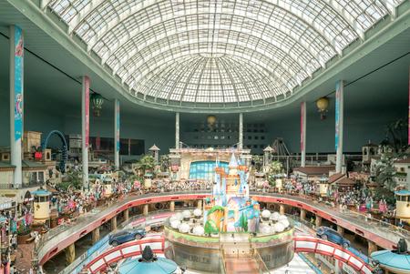 Seoul, Korea - May, 2016: Lotte World, a famous amusement theme park at Seoul