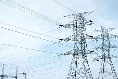 Transmission elektrische Stromleitungen Turm Pylon