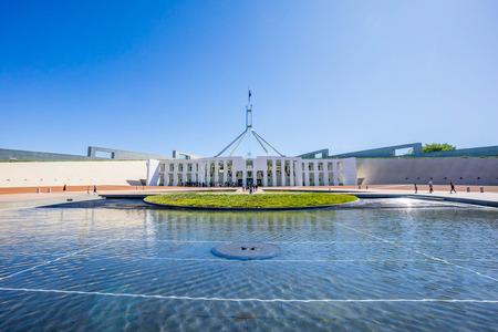 Canberra, Australia - December 27, 2015: Parliament House, a famous landmark for tourist destination at Canberra, Australia