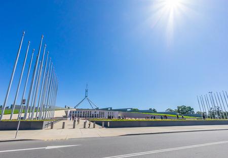 Canberra: Canberra, Australia - December 27, 2015: Parliament House, a famous landmark for tourist destination at Canberra, Australia