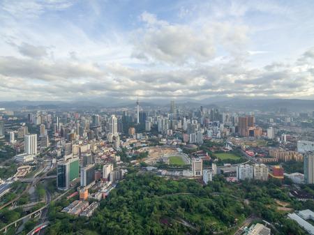 Luchtfoto van het centrum van Kuala Lumpur