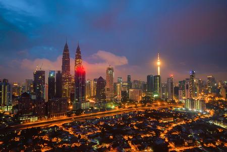 Aerial view of Kuala Lumpur city skyline