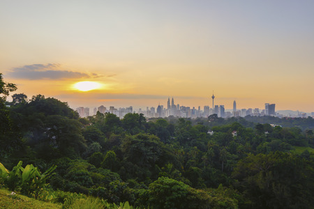 Sunrise at Kuala Lumpur city skyline