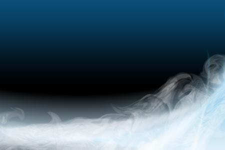 lightbeam: light blue flame smoke for design Stock Photo