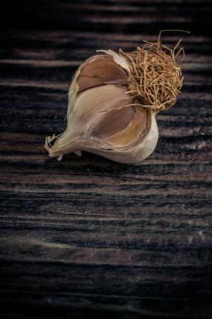 up: Close up shot of a garlic Stock Photo
