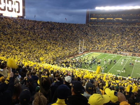 Michigan vs Michigan state in the big house Ann arbor in 2012.  Stock Photo