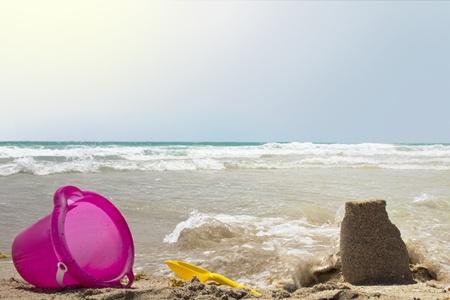 toys lying on the beach Stock Photo - 10346676