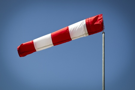 vignetting: Shot of a windsock with artificial vignetting