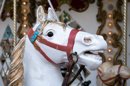 Head of a carousel horse Stock Photo - 10372259