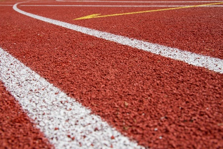 pista de atletismo: Caucho superficie de un estadio