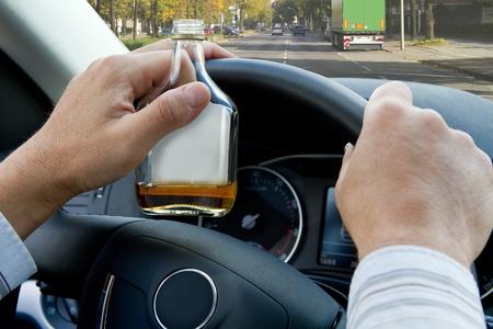unfit: Drunken driver looses control over his car