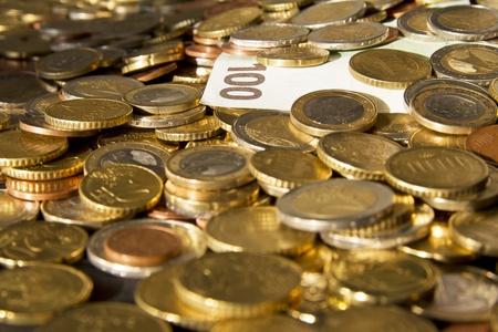 Bestand an Münzen und Scheine