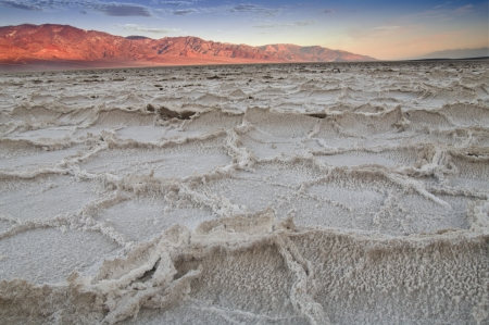 Salt lake badwater in Death Valley