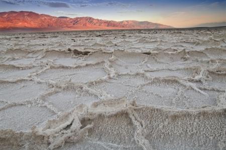 Salzsee Badwater im Death Valley Standard-Bild