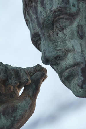 Close-up shot of a statue Stock Photo