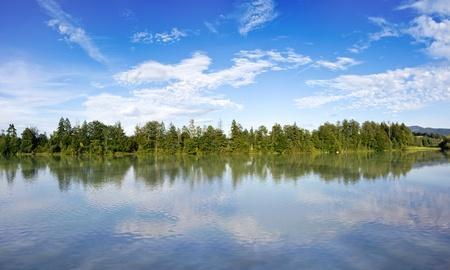 Reflecting lake in Bavaria Germany Stock Photo - 10636607