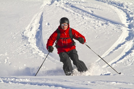 offpiste: Male is freeriding backcountry