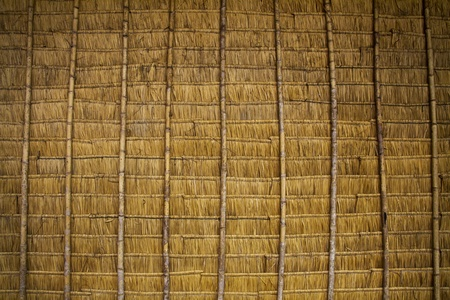 Thatched roof in asia photo
