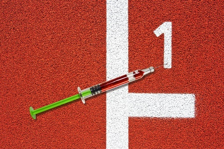 race track: Syringe on race track