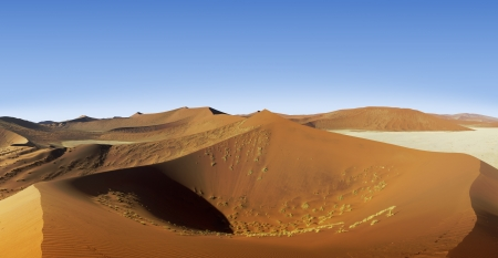 sossusvlei: Dune 45  in Sossusvlei dunes Namibia Stock Photo