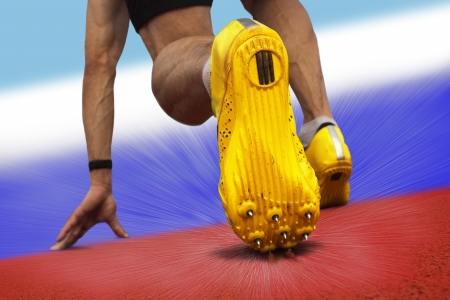 national colors: Sprinter starts on surface with russian national colors