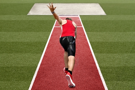 long jumper prepares for his start