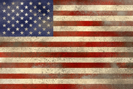 filthy: Used and filthy US flag Stock Photo
