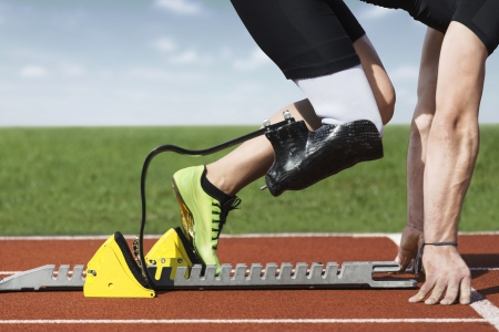 Start position  of athlete with handicap photo