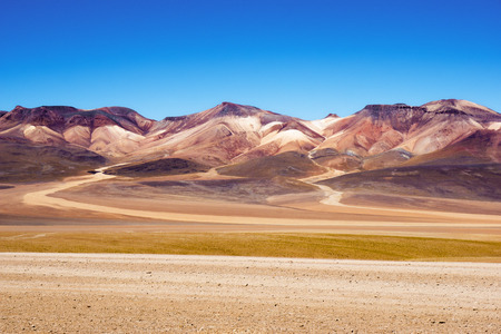 alpine zone: Mountain of seven colors at the national park \ Eduardo Avaroa national reserve of andean \ Stock Photo