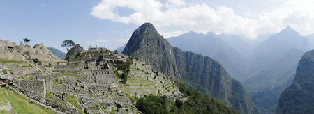 Panorama  photo of Machu Picchu. Picture was taken in october 2014