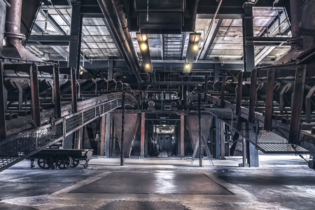 Indoor production scene of the Zeche Zollverein in Essen-Germany. The closed coke oven plant is world heritage site. Editorial
