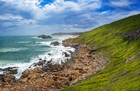 Tremendous Robbberg nature reserve coastline at Plettenberg bay, South Africa.