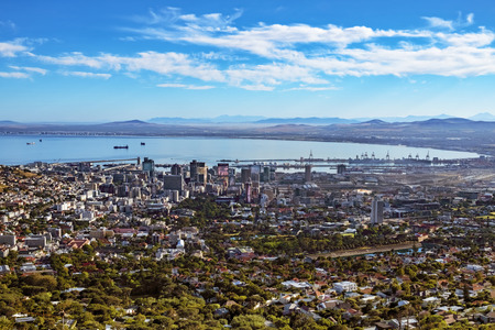 Cape town from above. Shot is taken at Table Mountain cableway basis station.