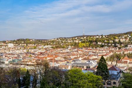 Stuttgart, Germany. View from viewpoint Karlshoehe