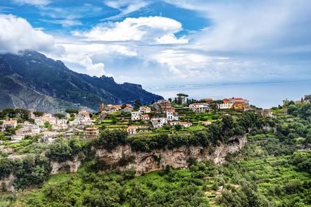 View to Ravello at the Amalfi Coast in Campania, Italy