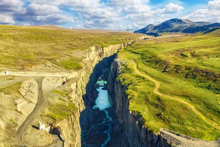 Hafrahvammagljufur canyon Iceland