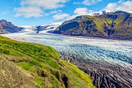 Huge Skaftafell glacier in iceland Фото со стока