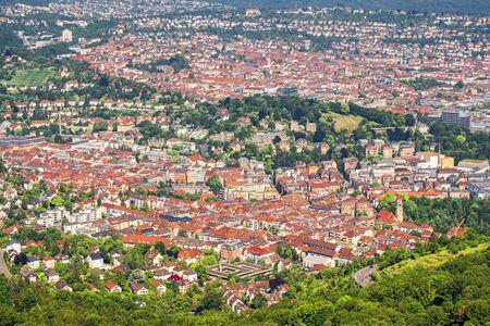 View over Stuttgart, Germany, capital of Baden-Wuerttemberg.