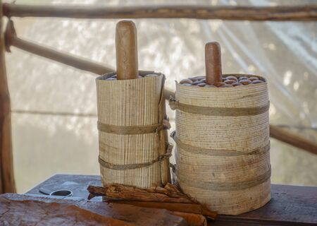 Presentation of cuban cigars in a Cuba tobacco manufacture. Фото со стока