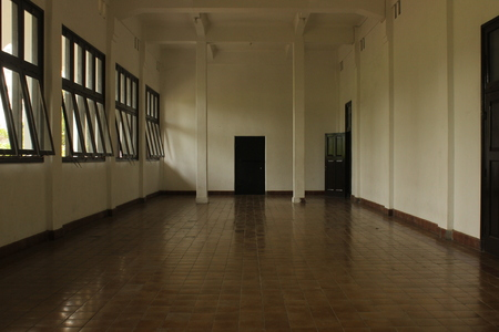 A Completely Empty Room at Lawang Sewu Museum, Semarang, Indonesia