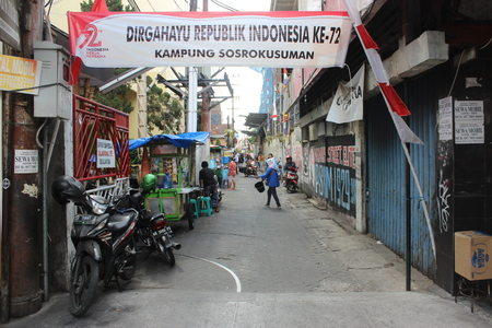 Another ordinary day at the alley of Kampung Sosrokusman, Yogyakarta, Indonesia
