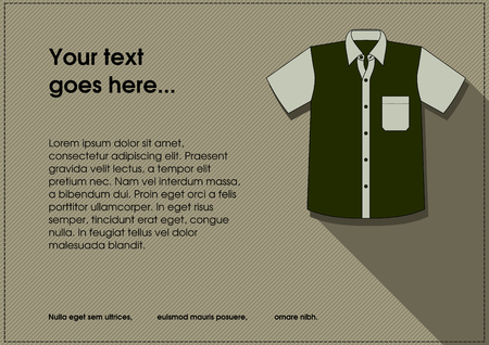 costum: western style shirt with long shadow for tailor design background
