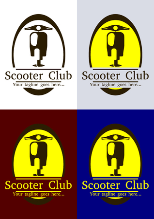 Scooter icon vector logo design template. Come with editable vector EPS included. Illustration
