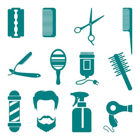 barbero: Peluquería Icon Set