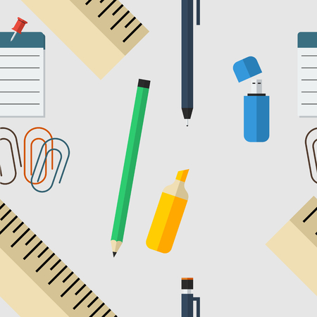 Office Equipment Seamless Pattern
