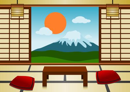 Japanese Room Vektorové ilustrace